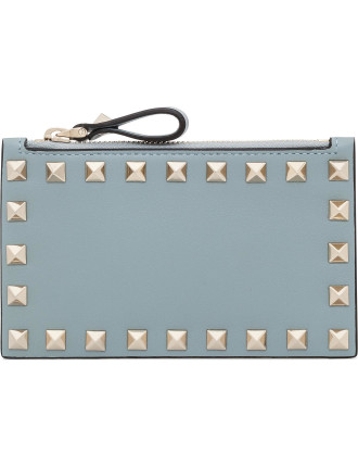 Vitello Rockstud Coin Purse Card Case