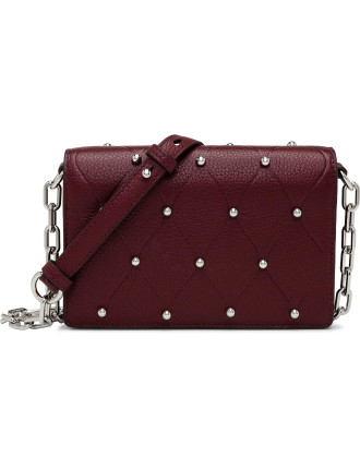 Attica Biker Purse W/Chnbeet Refined Pebble Calf