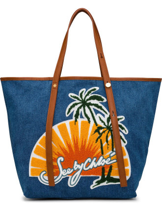 Sunset Denim Tote