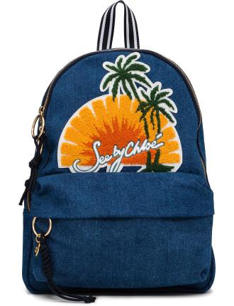 Sunset Denim Backpack