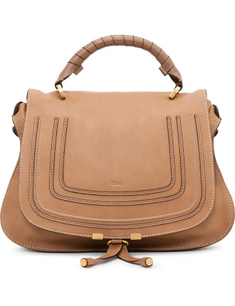 New Marcie Grained Calf Top Handle Satchel