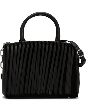 Attica Flap over Satchel with Top Handle & Fringe