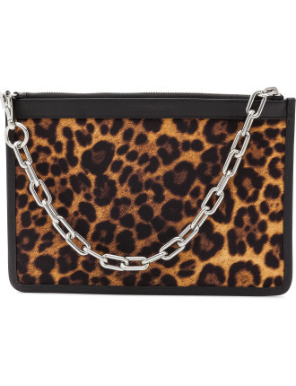 Attica Large Flat Pouch with Chain