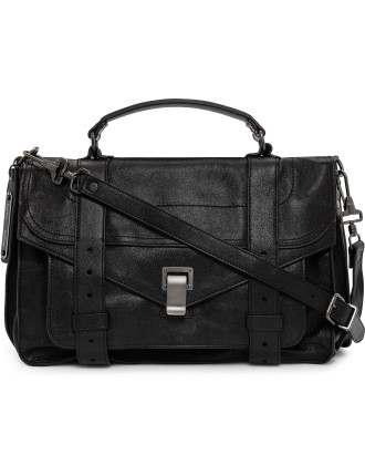 Medium Lux Leather Satchel
