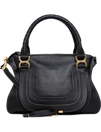 Medium Marcie Grainy Calf Shoulder Bag