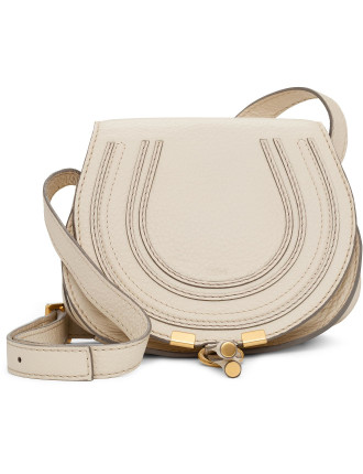 Small Marcie Grainy Calf Flap Satchel