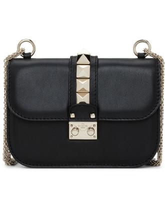 Small Lock Chain Calfskin Bag