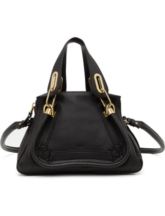 Small Paraty Grainy Calf Bag With Long Strap
