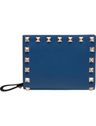 Flap French Rockstud Wallet