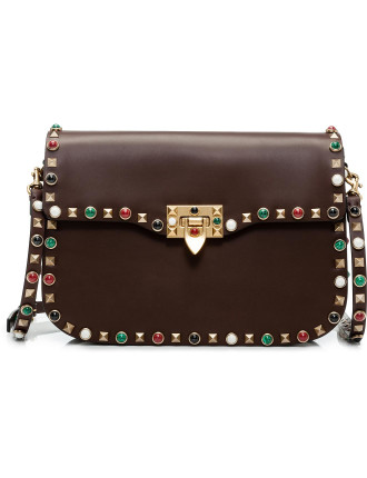 Rockstud Rolling Shoulder Bag