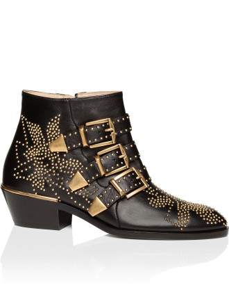 Susanna Studded Leather Ankle Boot