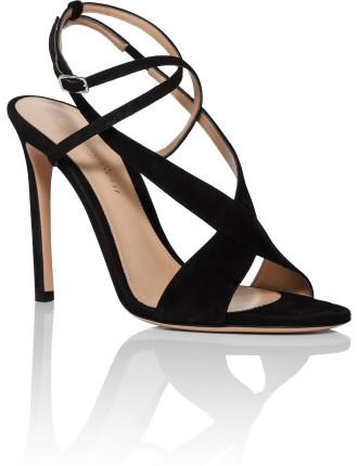 105mm Criss Cross Sandal Suede