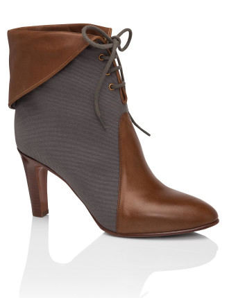 Kole Lace Up  Bootie Canvas/Washed Calf