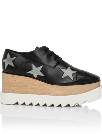 Elise Platform Lace Up With Stars