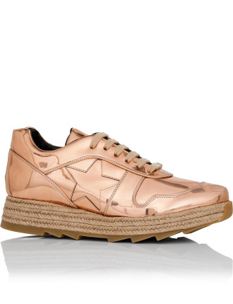 Sneaker With Stars In Copper