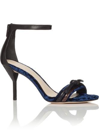 Martini Knot Sandal In Velvet