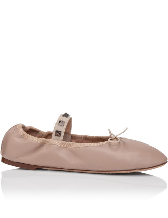 Lw0s0a93gns Ballet Flat With Rockstud Elastic