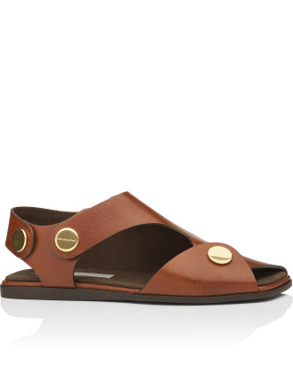 468287 W1aro Snap Buckle Flat Sandal