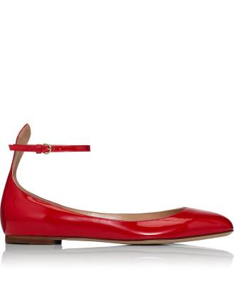 Mw2s0b53 Tan-Go - Ankle Strap Ballerina