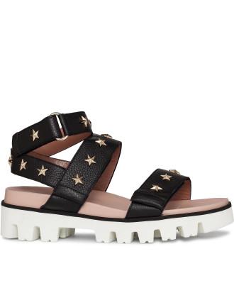 Studded Flat Form Sandal