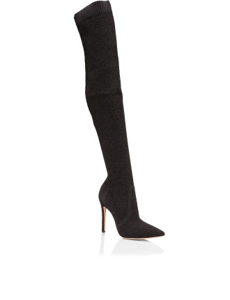 G80718 KNIT BOUCLE KNIT BOUCLE OVER THE KNEE BOOT 105MM