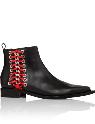 493541WHR54 0 BOOTIE WITH EYELET RED