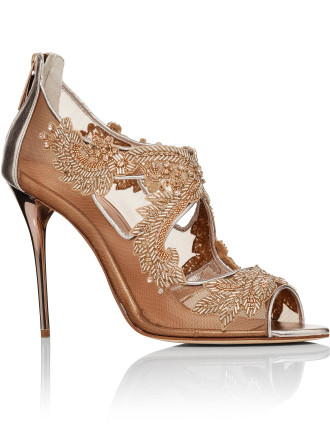 S1719361 METALLIC NAPPA AMBRIA 100MM EMBROIDERY SANDAL