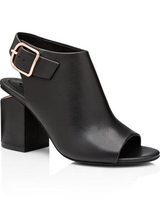 Nadia Rose Gold Mid Heel Sandal