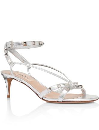 Rockstud Metalic Heel Sandal