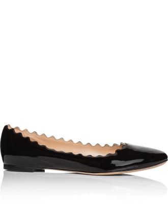 CH24160-E80 PATENT LEATHER LAUREN BALLERINA
