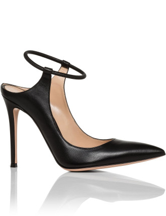 Pointed Open Back Ankle Pump
