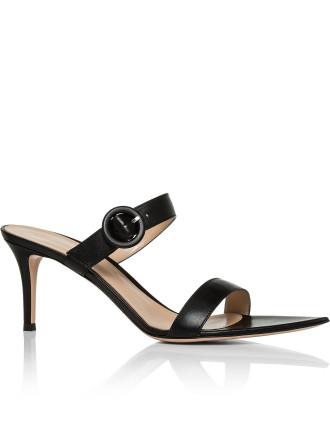 Pointed Slip On 2 Strap Sandal Heel