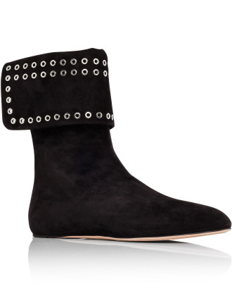 485794 Whqv1 Flat Bootie With Eyelets
