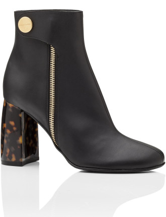 Ankle Boot With Tortoise Shell Heel