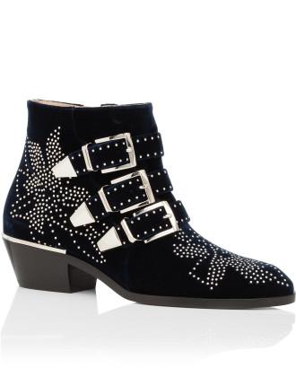 Ch24134 E41 Susanna Boot Velvet Wth Silver Studs