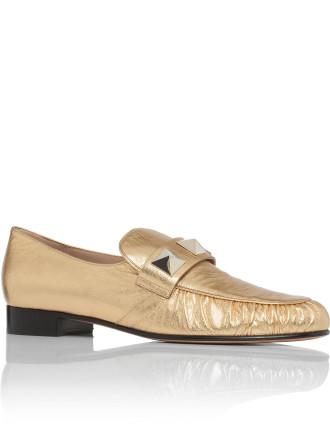 Laminated Studded Loafer