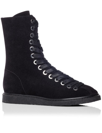 EMMANUEL MID CALF LACE UP ANKLE BOOT