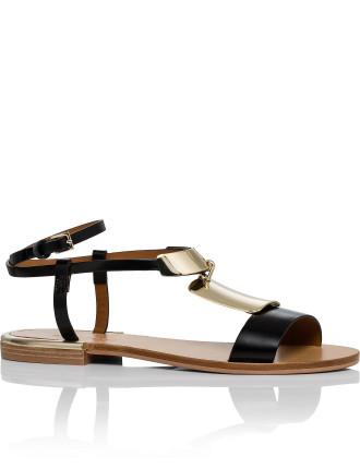 Metal Plate Flat Sandal (Anita)