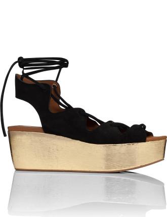 Corsetry Flatform Wedge Sandal (Liana)