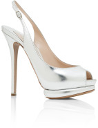 Metallic Leather Platform $640.50