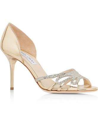 Mocha Glitter Fabric Dorsay Sandal