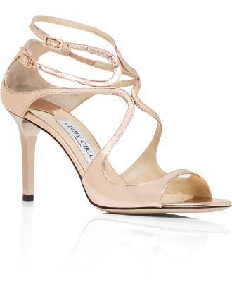 Ivette Mirror Leather Sandal