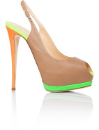 Calf/Fabric Peep Toe Platform $542.50