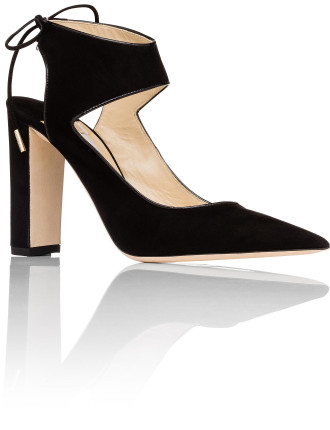 Mazey 100 Closed Toe Pump With Wide Ankle  Strap
