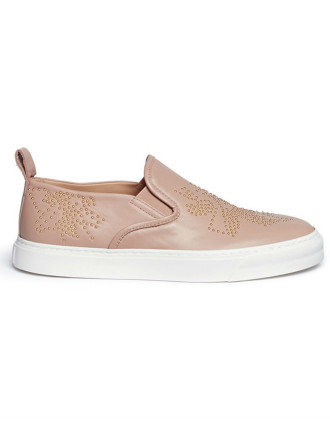 Sussana Sneaker With Gold Studs