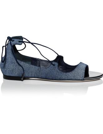 Vernie Flat Lace Front Sandal