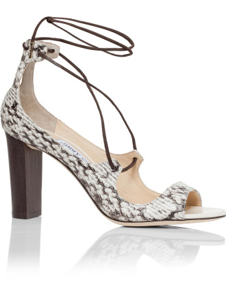 Vernie 85mm Lace Front Sandal In Elaphe