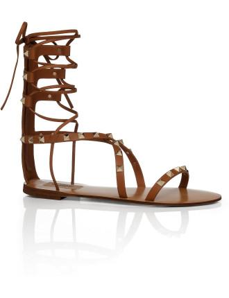 Rockstud Gladiator Flat Sandal
