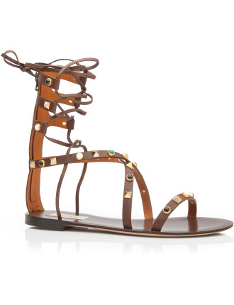 Rockstud Flat Gladiator With Stones