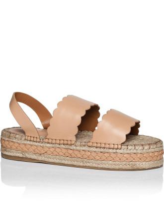 Scallop Esp Sandal Flatform